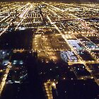 Nighttime Chicago Streets from Sears Tower by Felicia722