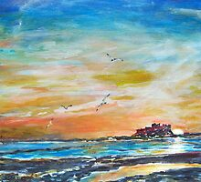 Bamburgh Dawn, Northumberland Coast by Colin Cartwright