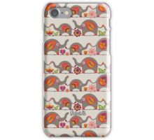 Marching elephants iPhone Case/Skin