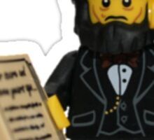 LEGO Abraham Lincoln with Declaration of Independence  Sticker
