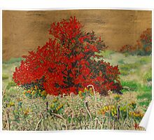 Golden Overgrown Poster