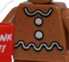LEGO Gingerbread Man with Dunk Me Mug Sticker