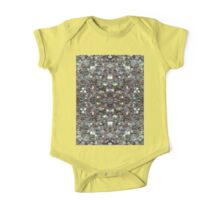 Sparkly colourful silver mosaic mandala One Piece - Short Sleeve