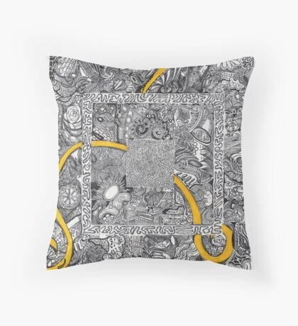 Yellow Ribbon Throw Pillow
