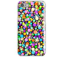Polka Dots Psychedelic Colors iPhone Case/Skin