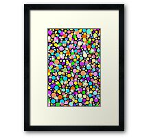 Psychedelic Colors Bright Polka Dots Framed Print