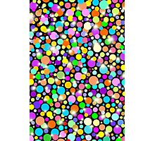 Polka Dots Psychedelic Colors Photographic Print