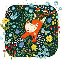 Jumping cat by Tinly