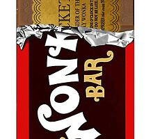 Wonka Bar phone case with ticket by profGraphics