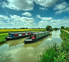 Narrowboats on the K and A  by Rob Hawkins