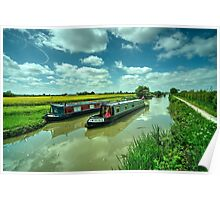 Narrowboats on the K and A  Poster