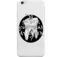 "Shakespeare Quote, Romeo & Juliet ""Do you bite.."" iPhone Case/Skin"