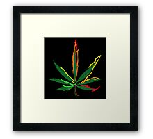 Crazy Marijuana Leaves Framed Print