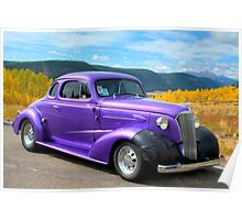 1937 Chevy on Colorado Highway 149 Poster