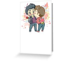 Flower Candy Kiss Greeting Card