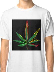 Crazy Marijuana Leaves Classic T-Shirt