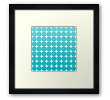 Turquoise Dots Framed Print