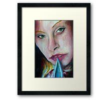 Bladed Beauty Framed Print