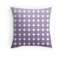 Violet Dots Throw Pillow