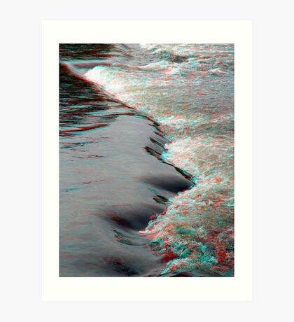 Rapidly 3D (by the Rideau River) Art Print