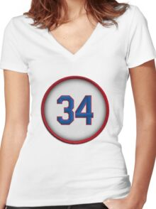 34 - The Ryan Express (Texas) Women's Fitted V-Neck T-Shirt