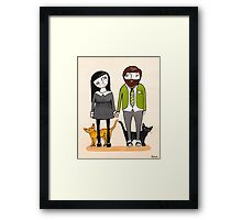 Father's Day with Fur Babies Framed Print