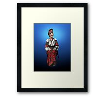 Woman in Hutsul Costume Framed Print