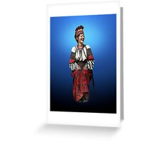 Woman in Hutsul Costume Greeting Card