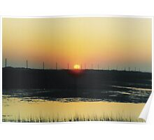 Dune Road`s Colorful Sunset Poster