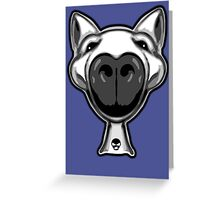 English Bull Terrier Hello Greeting Card