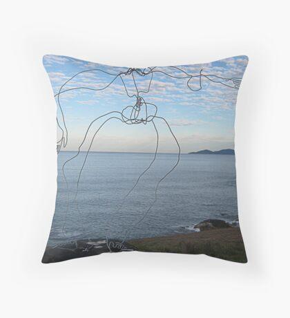 Wire Man Throw Pillow