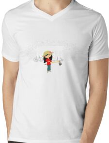 TropoGirl - Chinese country girl - Living in the country Mens V-Neck T-Shirt