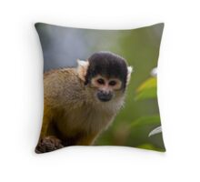 Black-Capped Squirrel Monkey Throw Pillow