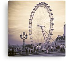 Moody London Eye Canvas Print