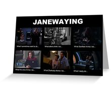 Janewaying Greeting Card