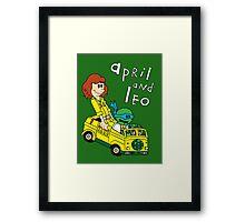 April and Leo Framed Print
