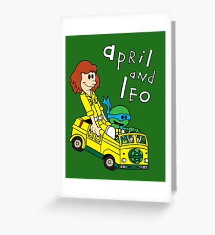 April and Leo Greeting Card