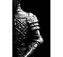 Knight Statuette Macro III Photographic Print