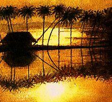 Backwaters/Kerala by Ella Meky