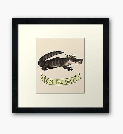 Best Gator Framed Print