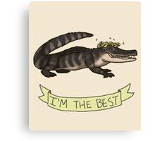 Best Gator Canvas Print