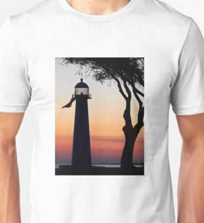 The Biloxi Lighthouse after Sunset Unisex T-Shirt