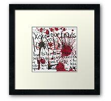LOVE BITES  Framed Print