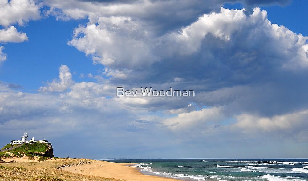 The Magic of Sky & Water - Nobbys Beach NSW by Bev Woodman