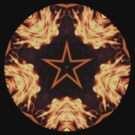 Flaming Star...Kaleidoscope Tshirt by judygal