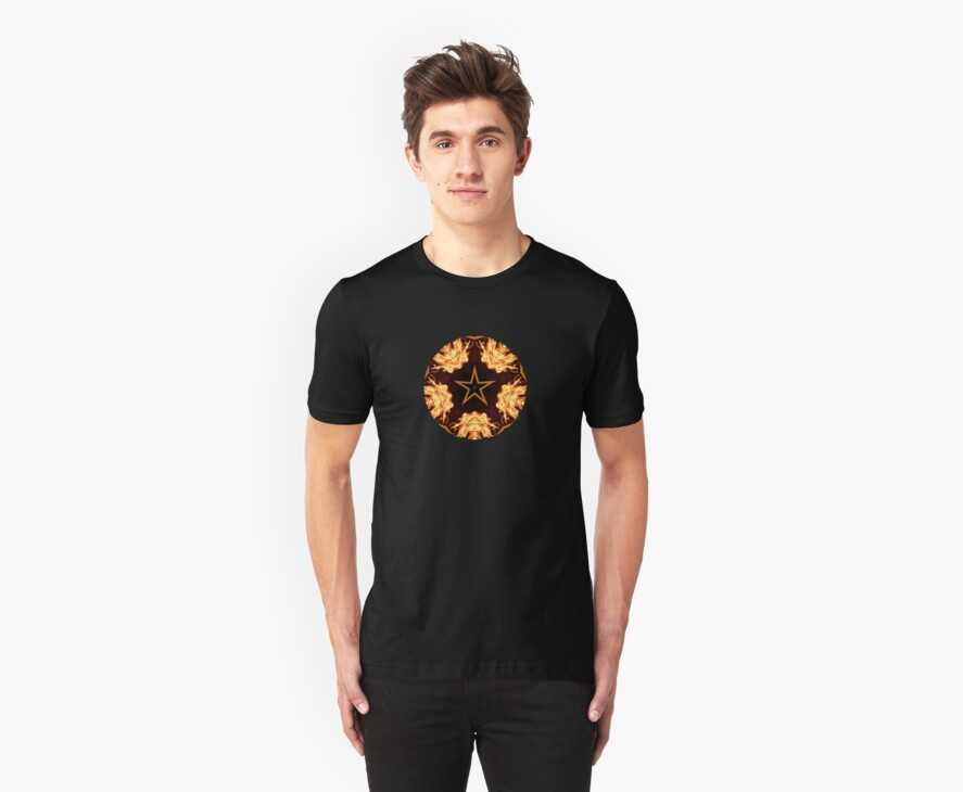 Flaming Star...Kaleidoscope Tshirt by judygal