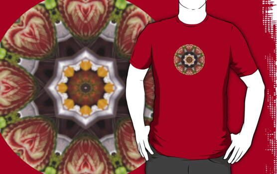 Watermelon Hearts.. Kaleidoscope Tshirt by judygal