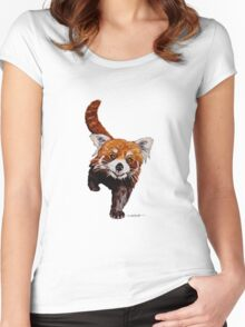 Red Panda Women's Fitted Scoop T-Shirt