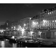 La Seine at Night Photographic Print