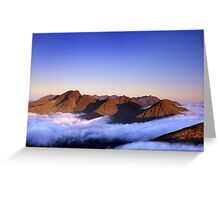The Cuillin, morning Greeting Card
